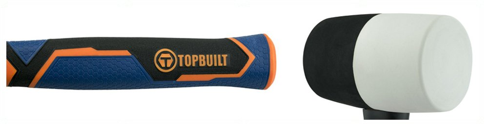 TopBuilt 16 Ounce Black and White Rubber Mallet