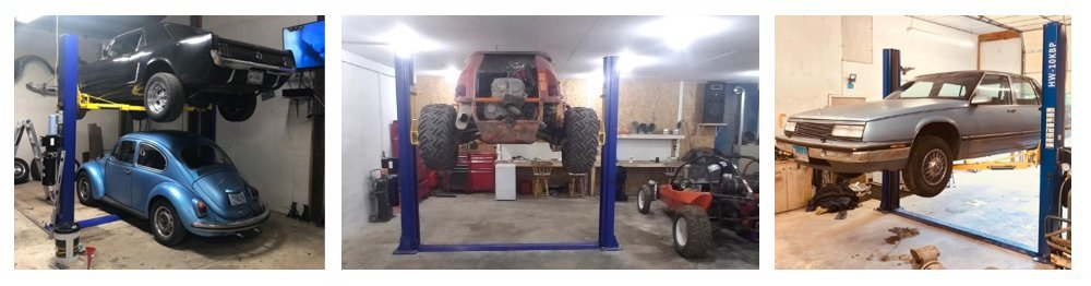APlusLift HW-10KBP 10000LB Two Post Floor Plate Auto Hoist Car Lift