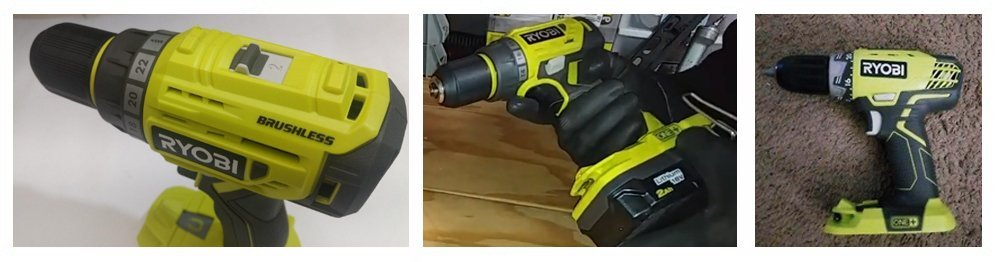 Ryobi P252 18V Lithium Ion Battery Powered Brushless 1,800 RPM 1/2 Inch Drill Driver