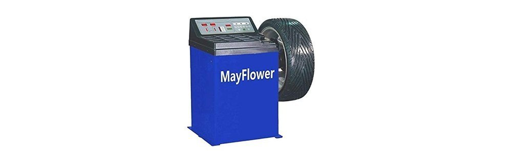 Mayflower - 1.5 HP Tire Changer Wheel Changers Machine Combo Balancer Rim Clamp 950 680 Bead Blaster / 1 Year Full Warranty