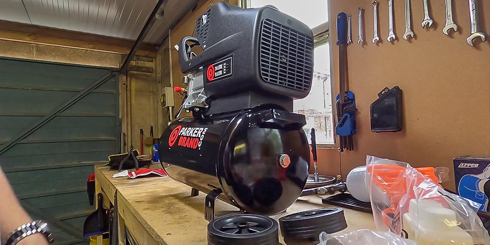 Air Compressor for Framing Crew